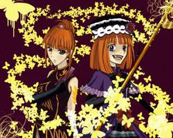 Eva and Eva Beatrice by Sapphire-hime