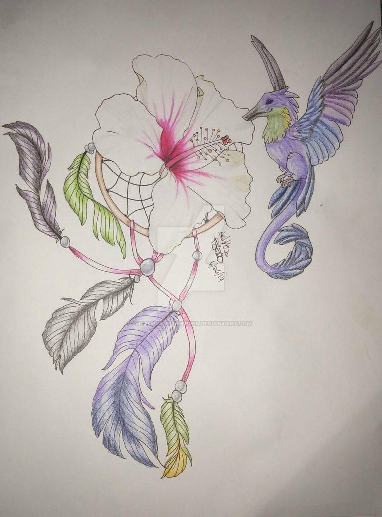 Hummingbird Dragon by MeadowofAshTrees