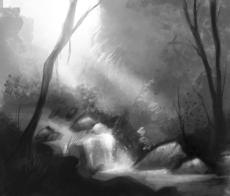 Forest Stream by Delta-Hexagon