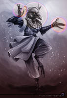 Tyln - Kenku Monk by Delta-Hexagon