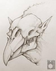 Crowboar Head Sketch by Delta-Hexagon