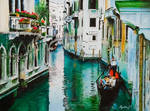'View of Venice'- oils