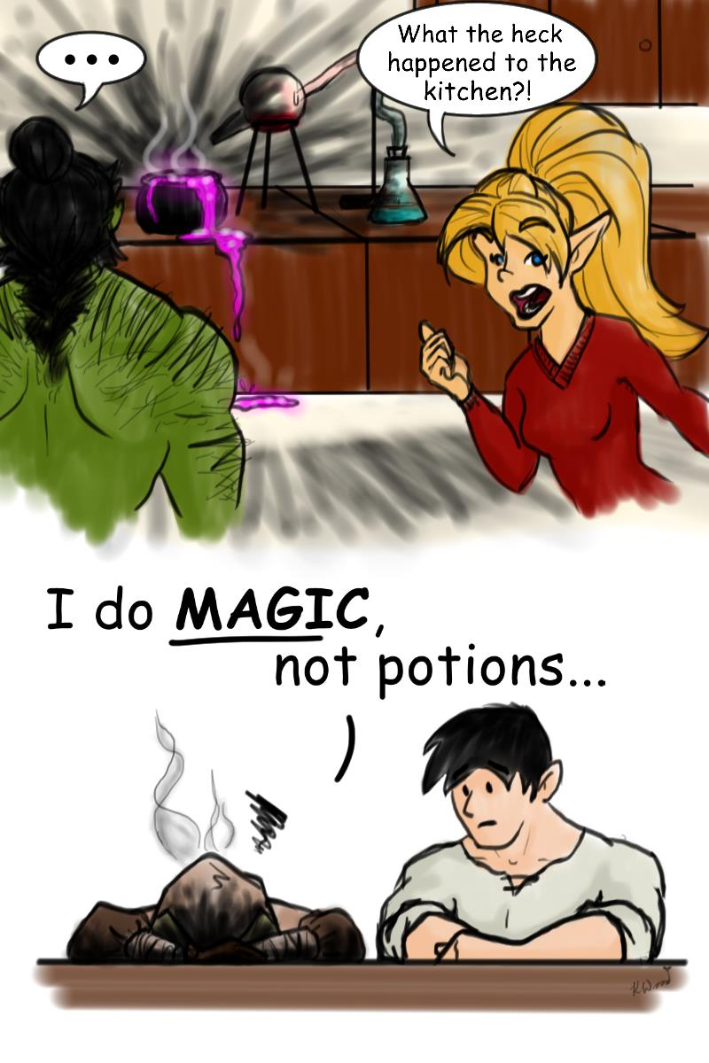 She does Magic