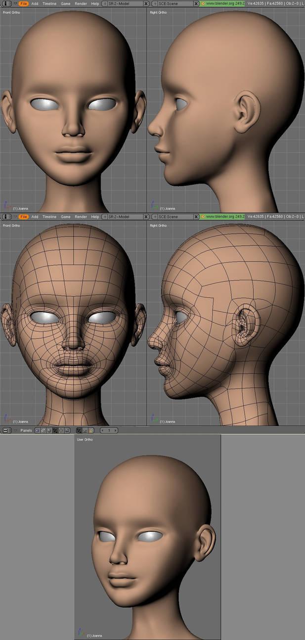 Joan head detail