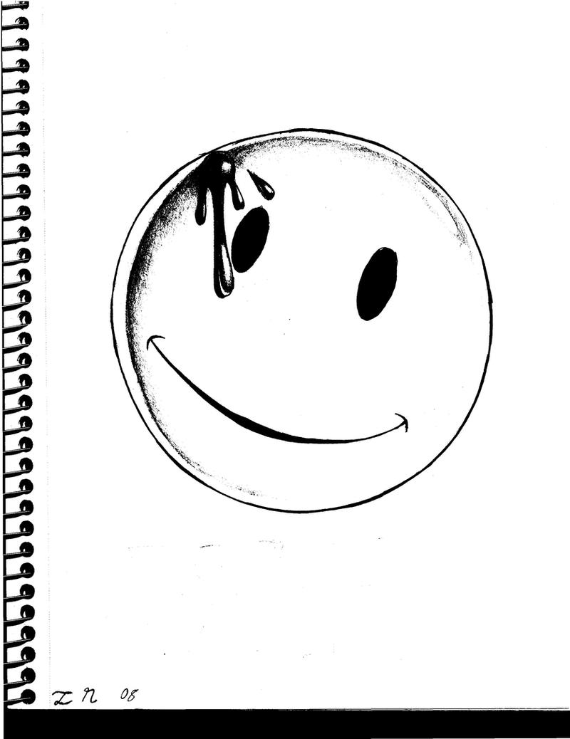 Line Drawing Smiley Face : Watchmen smiley face by aesopdoodler on deviantart