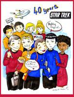 40 years Star Trek by VenusKaio