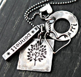 large mixed sterling silver personalized