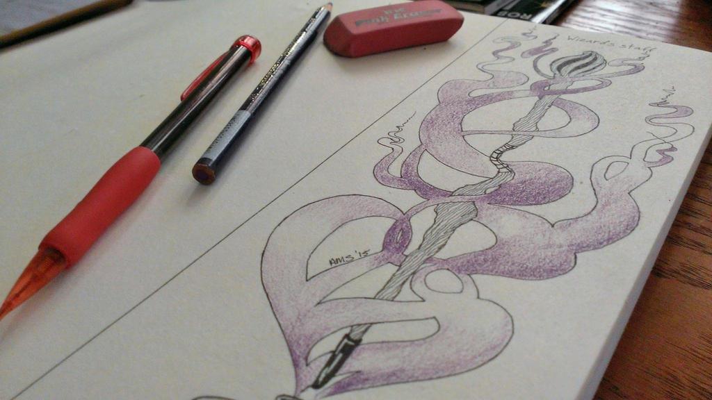 :Prompted Drawing: 1- Wizard's Staff by LuscyArt
