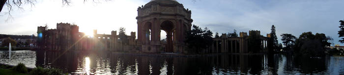 Palace of Fine Arts Pano by mialuvx3