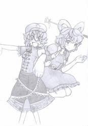 Miyako y Kaku - Touhou by psln