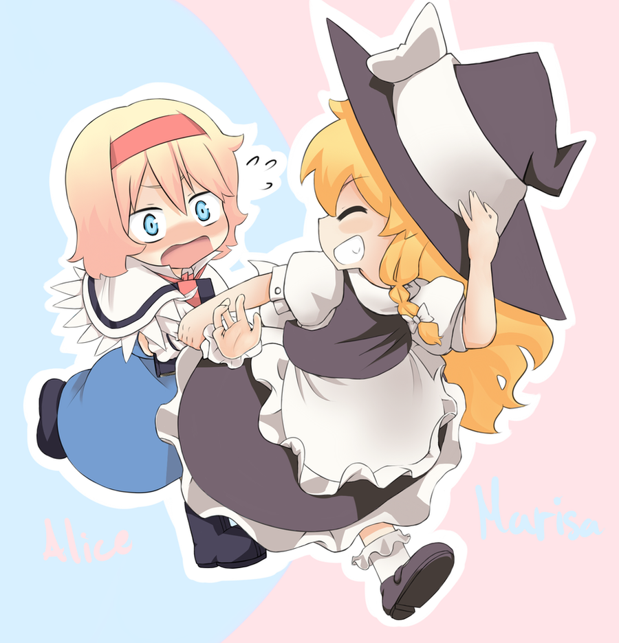 Alice and Marisa - Touhou by psln