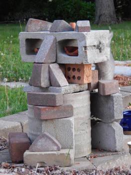 Random Brick Sculpture (East Face)
