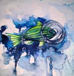fish - watercolor