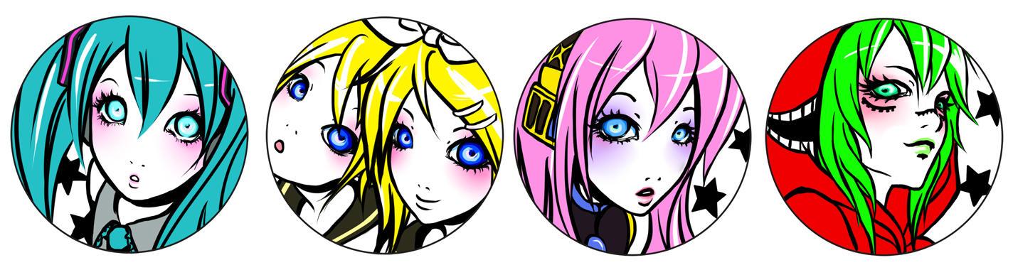 vocaloid badge designs
