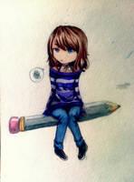 Pencil girl by Yukieru