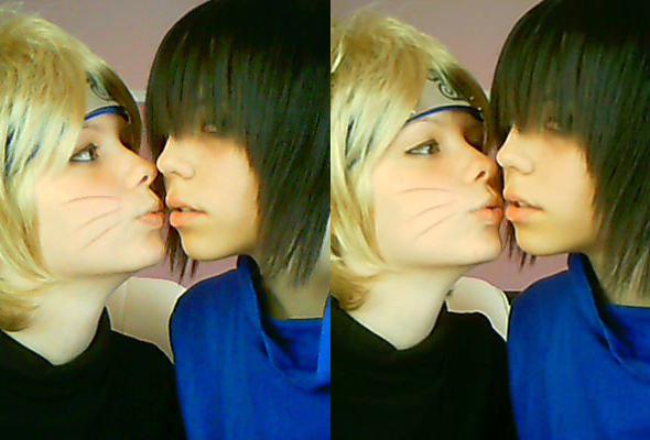 SasuNaru - Almost kiss by NozomiHoshi6