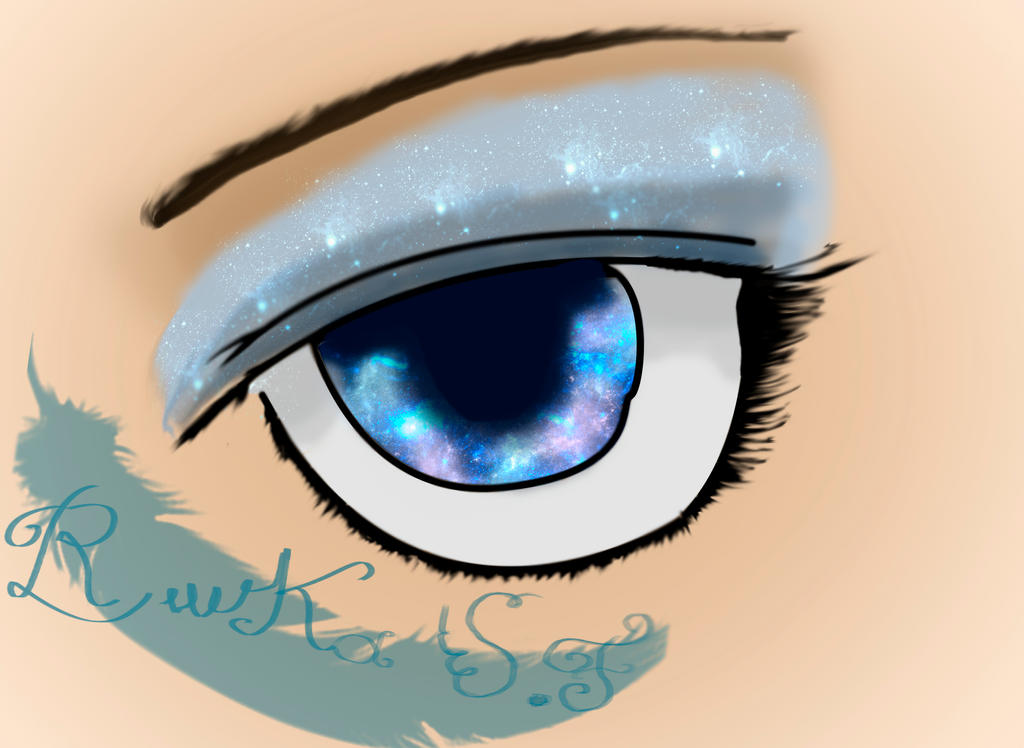 how to draw a galaxy eye