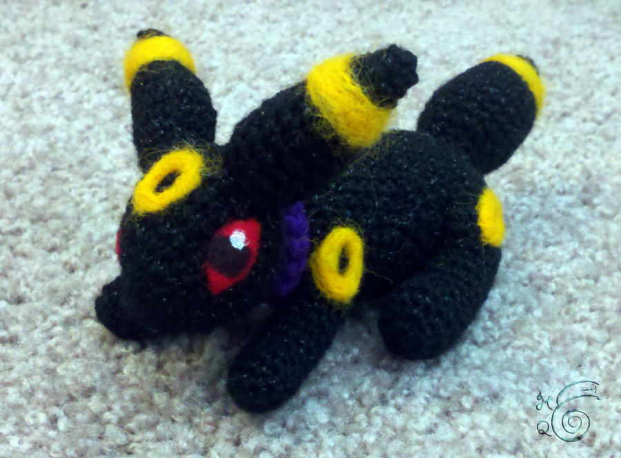 Crochet Umbreon : Miniature Crocheted Umbreon by TheHarley on DeviantArt