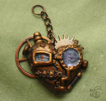 Steampunk Heart Necklace by TheHarley