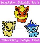 Eeveelution Pokedoll Set 2 [EMBROIDERY FILES]