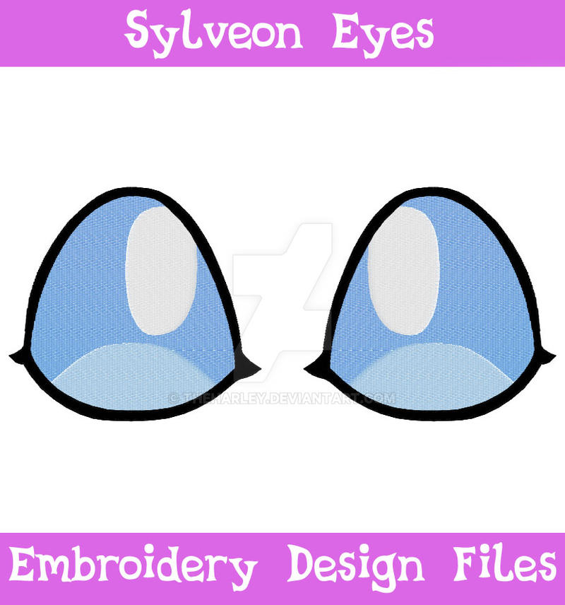 Sylveon eyes embroidery file by theharley on deviantart
