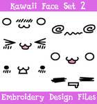 Kawaii Face Set #2 [EMBROIDERY FILES]