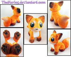 Sitting Fox Plush *Airbrushed* by TheHarley