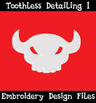 Toothless Tail Skull [EMBROIDERY FILE]