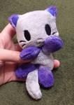Silver and Purple Panda Kitty Beanie