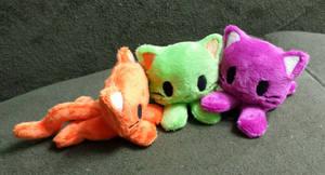 Neon Kitty Beanies