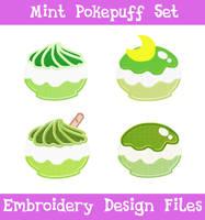 Mint Pokepuff Set [EMBROIDERY FILES]