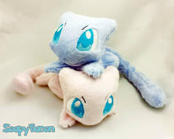 Mew Palm-Sized Plush Beanie by TheHarley