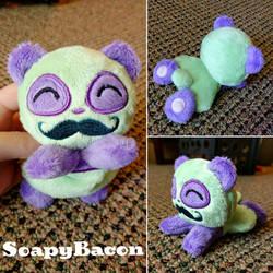 Joker Mustache Panda Plush