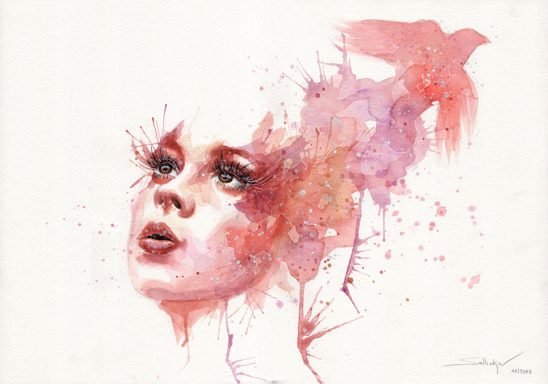 Red Bird by SophiaViolette