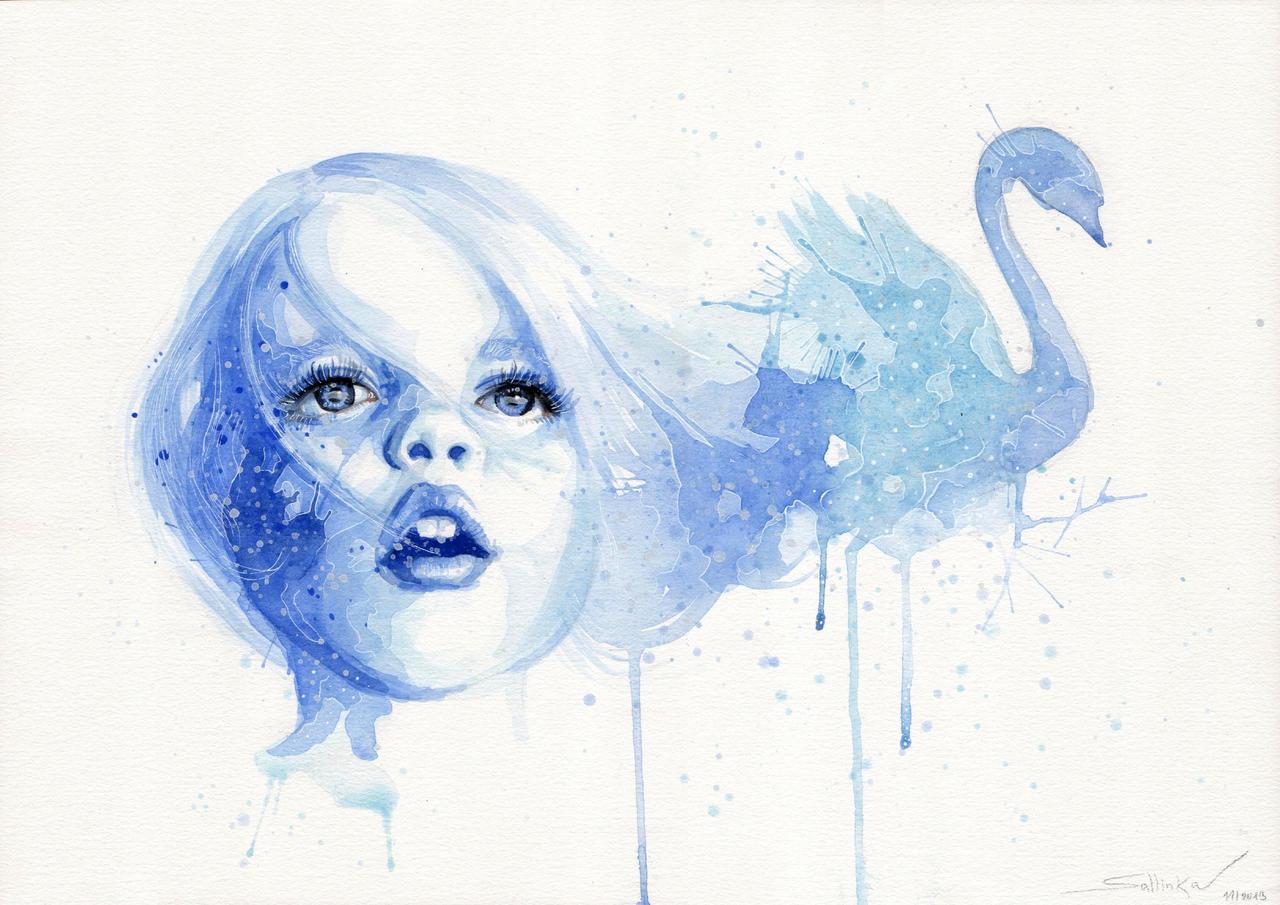 Blue swan by SophiaViolette