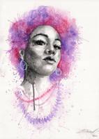 Purple hair by Blue-birch-insight