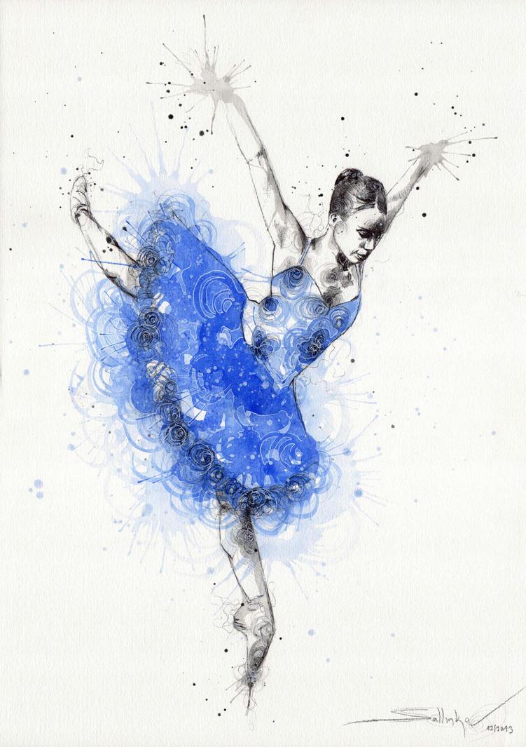 Blue ballerina by SophiaViolette