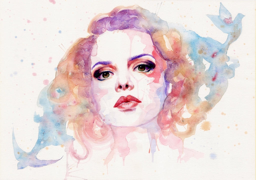 Rainbow lady by SophiaViolette