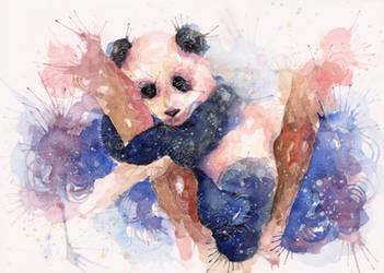 Sleeping panda by Blue-birch-insight