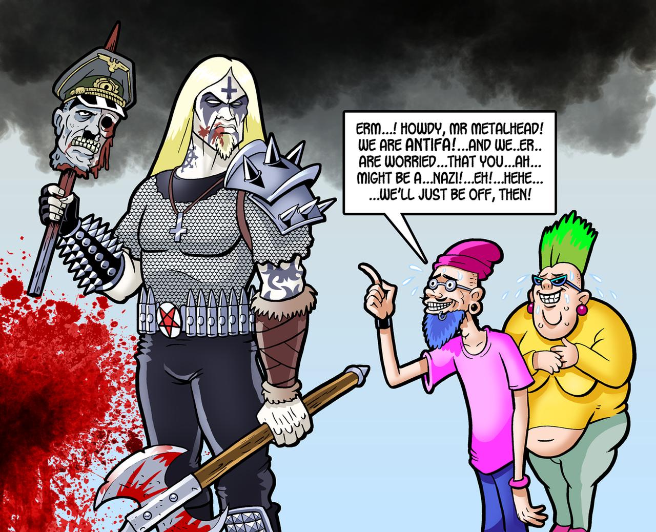 Metal Versus Social Justice by curtsibling