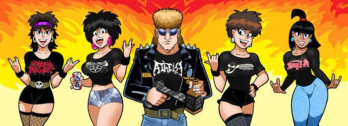 Kozak And Metal Babez by curtsibling