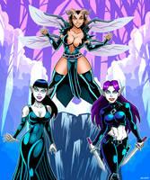 Dark Fantasy Bad Girls by curtsibling