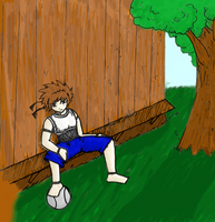 Troy - On a bench - Colored by Nekosxe