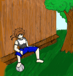 Troy - On a bench - Colored