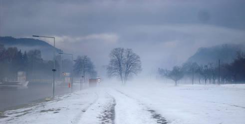 Winterpanorama Schleuse