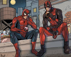 Deadpool, Spidey and capcakes by bhebbo