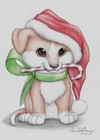 Christmas Puppy by MinakoWolf37