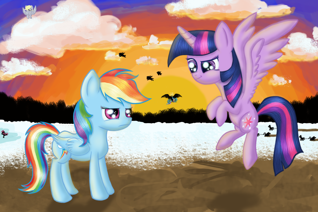 I have wings now, Rainbow..! by xLilian