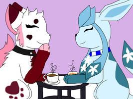 (G) Tea freak hanging with the coffee queen