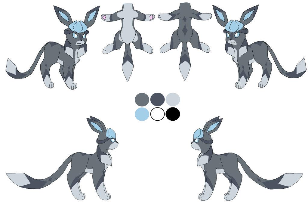 Pokesona/ glaceon OC: Yuki ref (OLD)